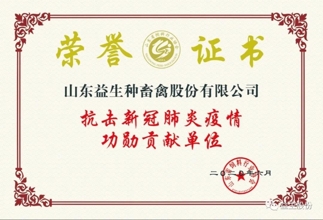 "[honor] Yisheng Co., Ltd. and its chairman were awarded the title of ""meritorious contribution unit and meritorious contributor in fighting against new crown pneumonia"""
